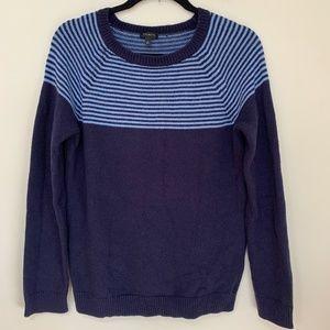 Talbots Striped Fair Isle Sweater